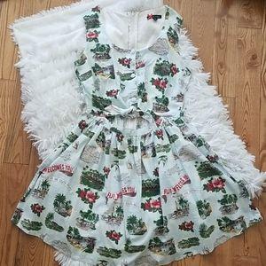 Hell Bunny Fiji Print Mini Dress